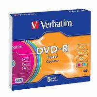 VERBATIM DVD-R Colour 16x/4.7GB