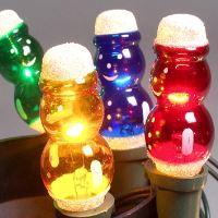 Vánoční žárovky 20V - SNĚHULÁK/FIGURKA - BAREVNÉ