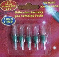 Vánoční žárovky 2,4V - ČIRÉ - blistr LONG LINE