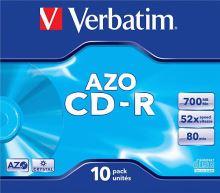 VERBATIM CD-R AZO Jewel 52x 700MB