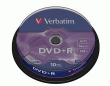 VERBATIM DVD+R 16x/4.7GB 10ks