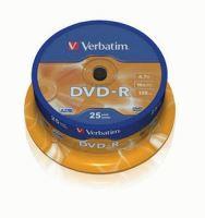 VERBATIM DVD-R 16x/4.7GB 25ks