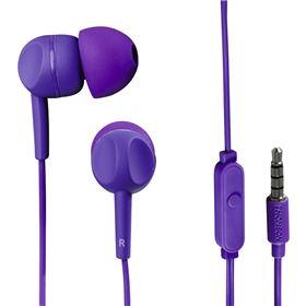 Thomson sluchátka s mikrofonem EAR3005, silikonové špunty, fialová  132482