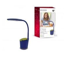 NILSEN LED stolní lampa ELSA dotyková, stmívatelná, 6W,  modrá   PX022