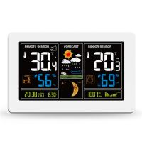Meteorologická stanice, bezdrátová,extra velký barevný LCD, teplota, vlhkost, tlak, RCC, USB nabíjení, bílá  TE81W