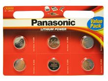 Baterie Panasonic CR2032, blistr 6ks, Lithium