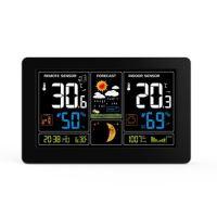 Meteorologická stanice, bezdrátová,extra velký barevný LCD, teplota, vlhkost, tlak, RCC, USB nabíjení, černá  TE81