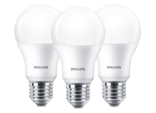 LED žárovka Philips E27 9W 2700K 230V A60  SET3ks  P828199