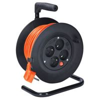 Prodlužovací přívod na bubnu, 4 zás. 15m, oranžový, 3x 1,0mm2  PB22O