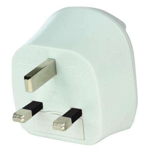 Cestovní adaptér pro použití v UK, bílý  PA28