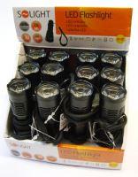 Solight kovová svítilna malá, 1 W LED, černá, 1 x AA   WL17