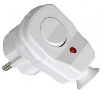 Instalační vidlice s vypínačem AWA-ŁK, úhlová, bílá