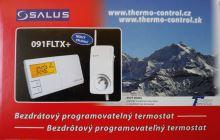Termostat bezdrátový programovatelný týdenní s průchozí zásuvkou  SALUS 091FLTX+