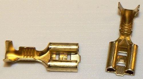 Konektor FASTON 6,3 mm zásuvka kabelová neizolovaná