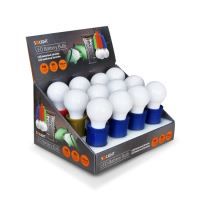 Solight LED svítilna-žárovka plast 1W, 50lm, 2 x AAA, display box  WL107