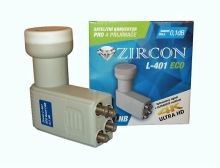 Konvertor ZIRCON LNB Quad L-401 ECO 0,1dB