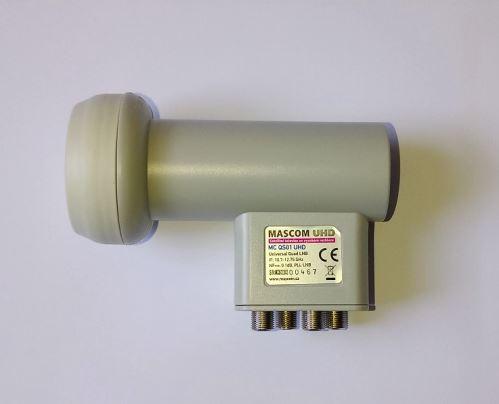 Konvertor LNB MASCOM MC-QS01UHD QUAD universal
