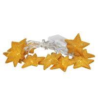 Solight LED vánoční hvězdy zlaté 10LED, teplá bílá, 2x AA  1V212