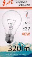 Žárovka AZ  40W E27 240V A55