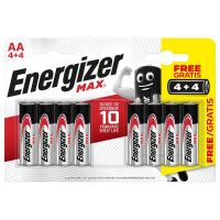 Baterie Energizer MAX AA/R06, Blistr(4+4)