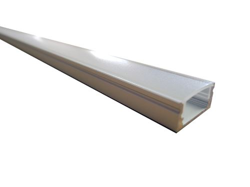 LED matný alu profil, přisazený, 2m, 17x8mm LINE 8